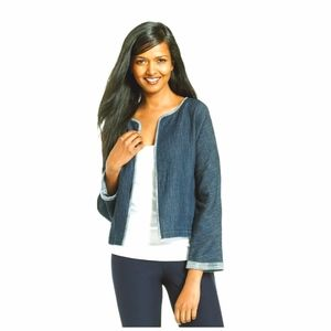 EUC Eileen Fisher Knit Denim Jacket M-L
